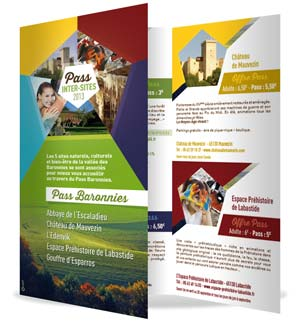 vue de la brochure de promotion du Pass inter-sites 2013