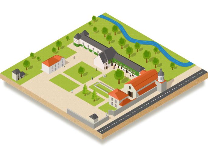 Plan de l'Abbaye de l'Escaladieu
